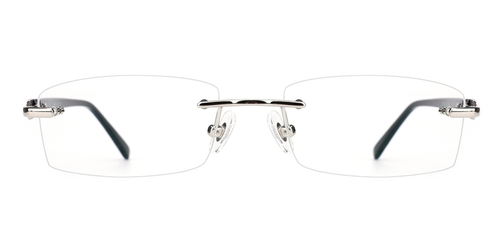 Cement-Silver-Rectangle-Acetate / Metal-Eyeglasses-detail