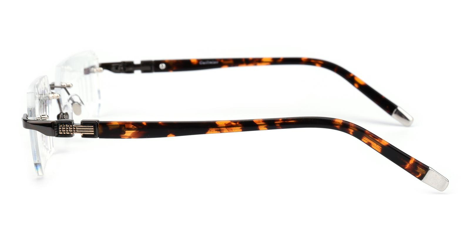 Answer-Gun-Rectangle-Acetate / Metal-Eyeglasses-detail