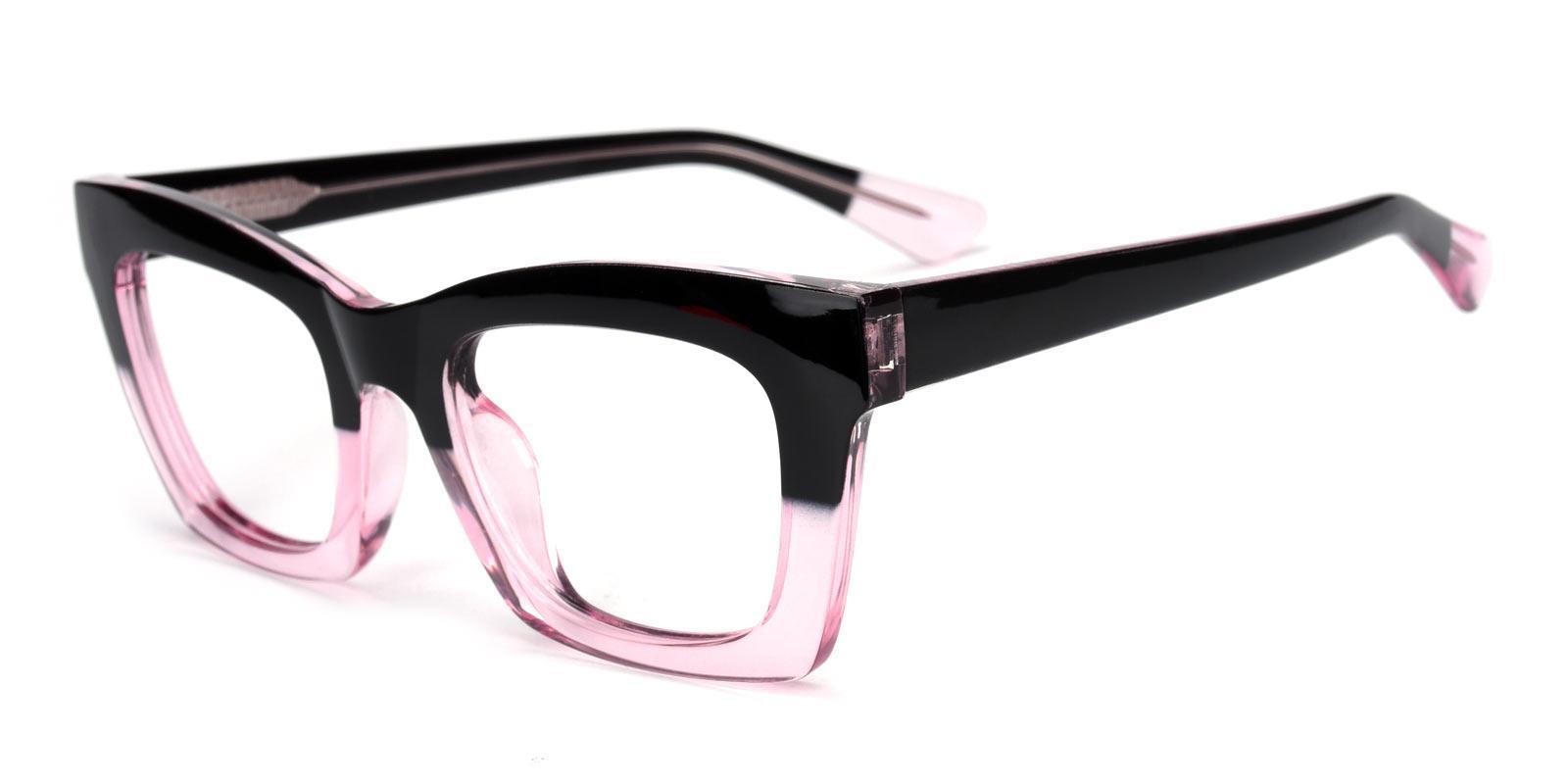 Catlady-Pink-Cat / Rectangle-Acetate-Eyeglasses-detail
