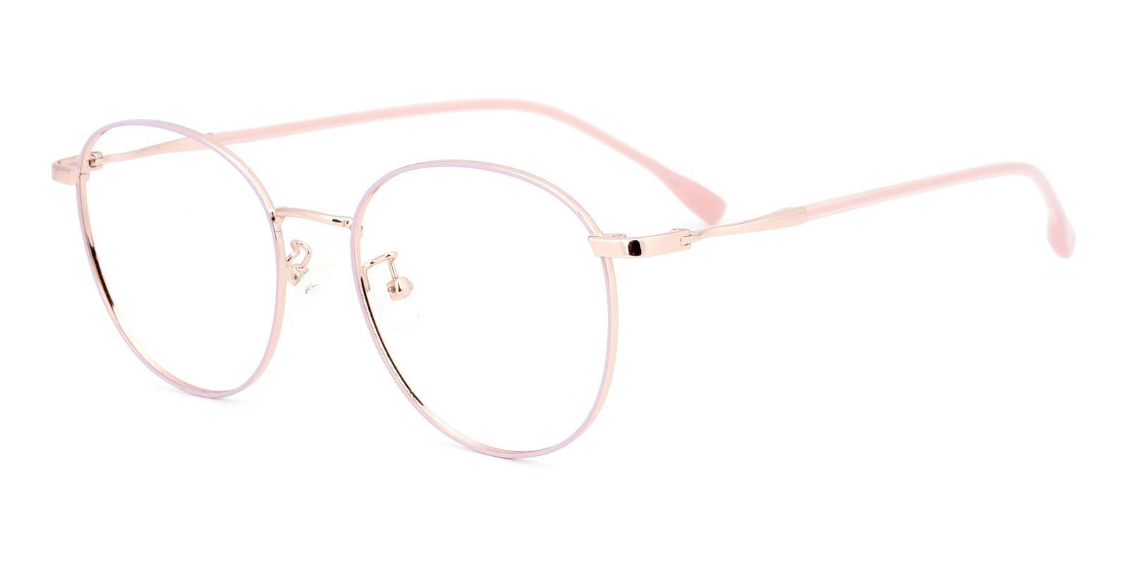 Meta-Pink-Round-Metal-Eyeglasses-detail