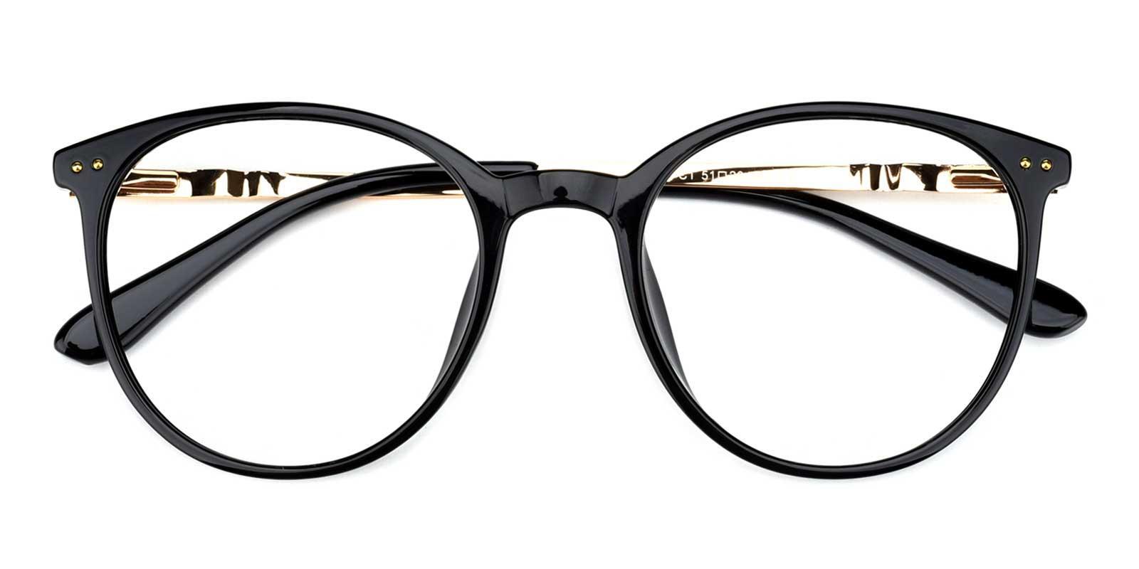 Peacock-Black-Round-Acetate-Eyeglasses-detail