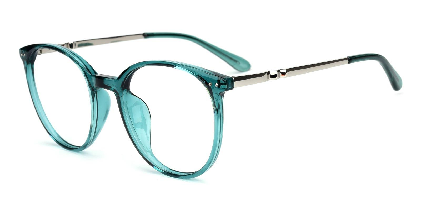 Peacock-Green-Round-Acetate-Eyeglasses-detail