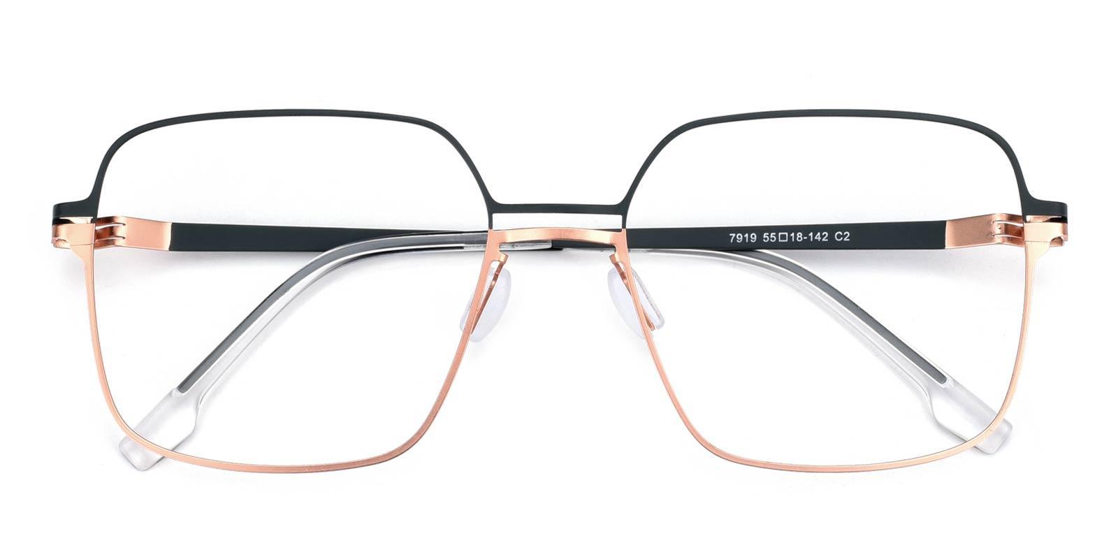 Concert-Green-Square-Metal-Eyeglasses-detail