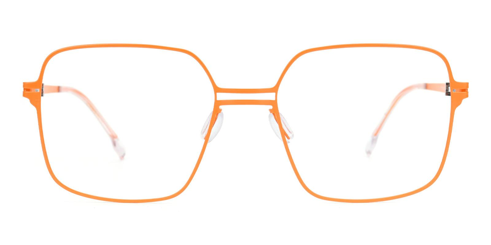 Concert-Orange-Square-Metal-Eyeglasses-detail