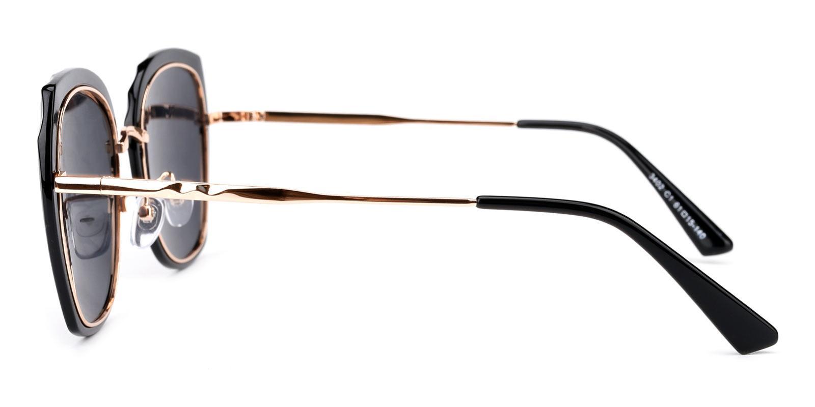 Superstar-Black-Square-Metal-Sunglasses-detail