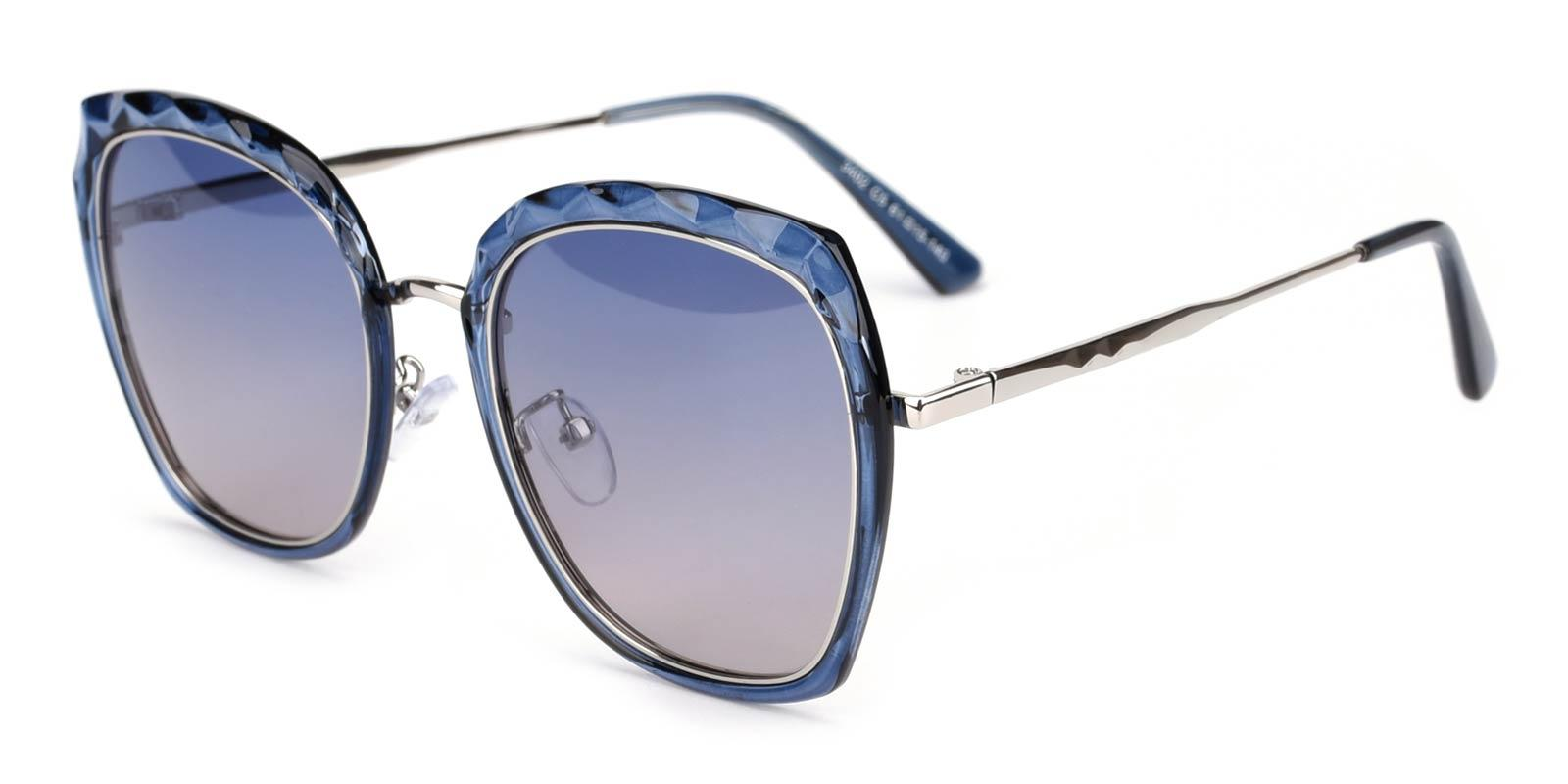 Superstar-Blue-Square-Metal-Sunglasses-detail