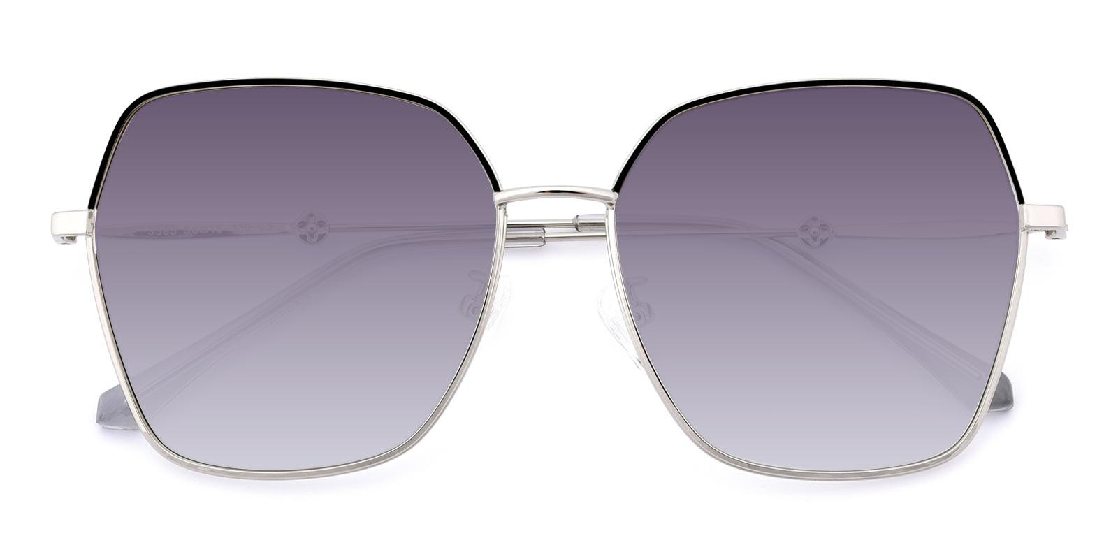 AfternoonTea-Silver-Square-Metal-Sunglasses-detail