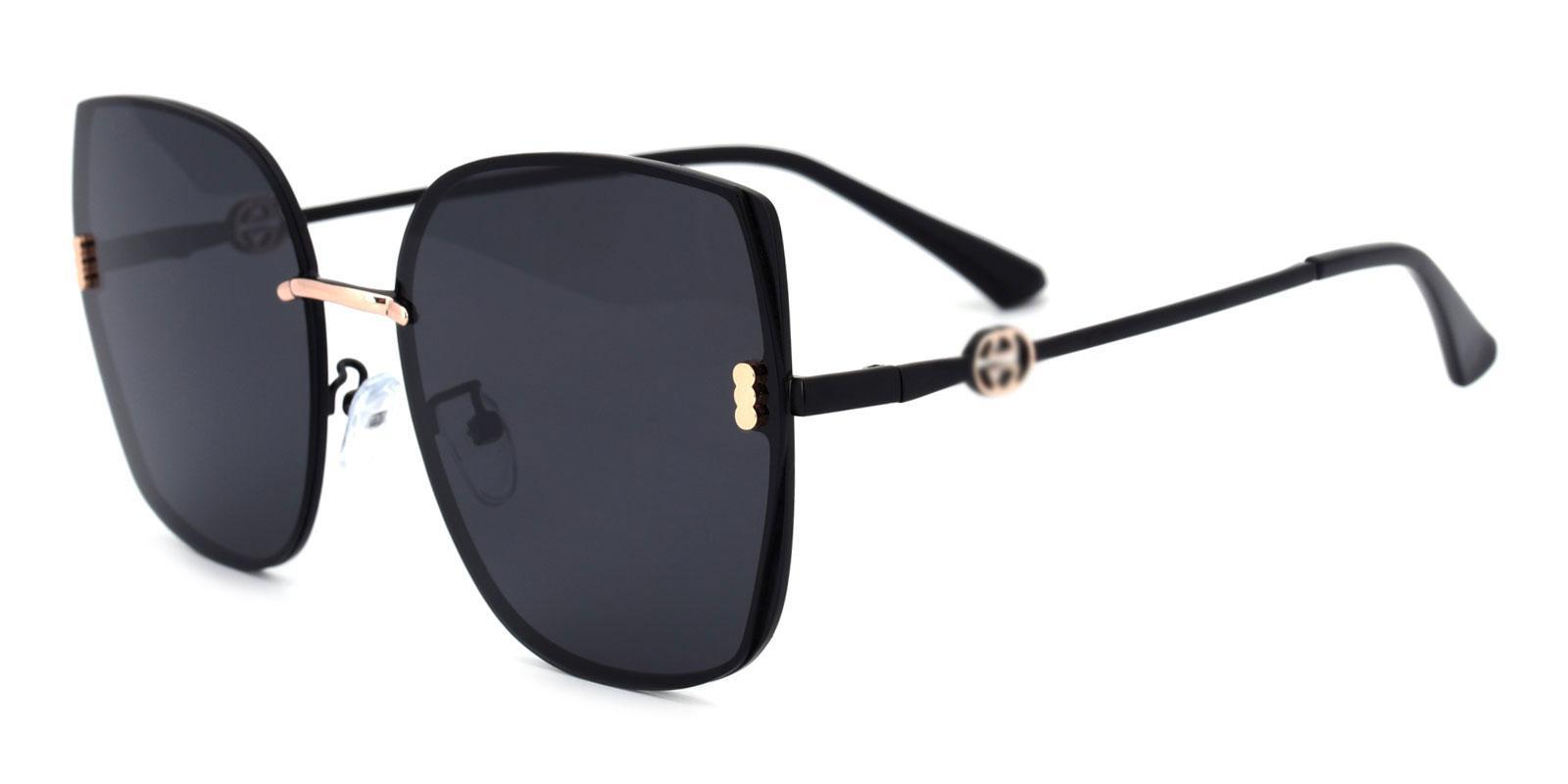 Zed-Black-Square-Metal-Sunglasses-detail