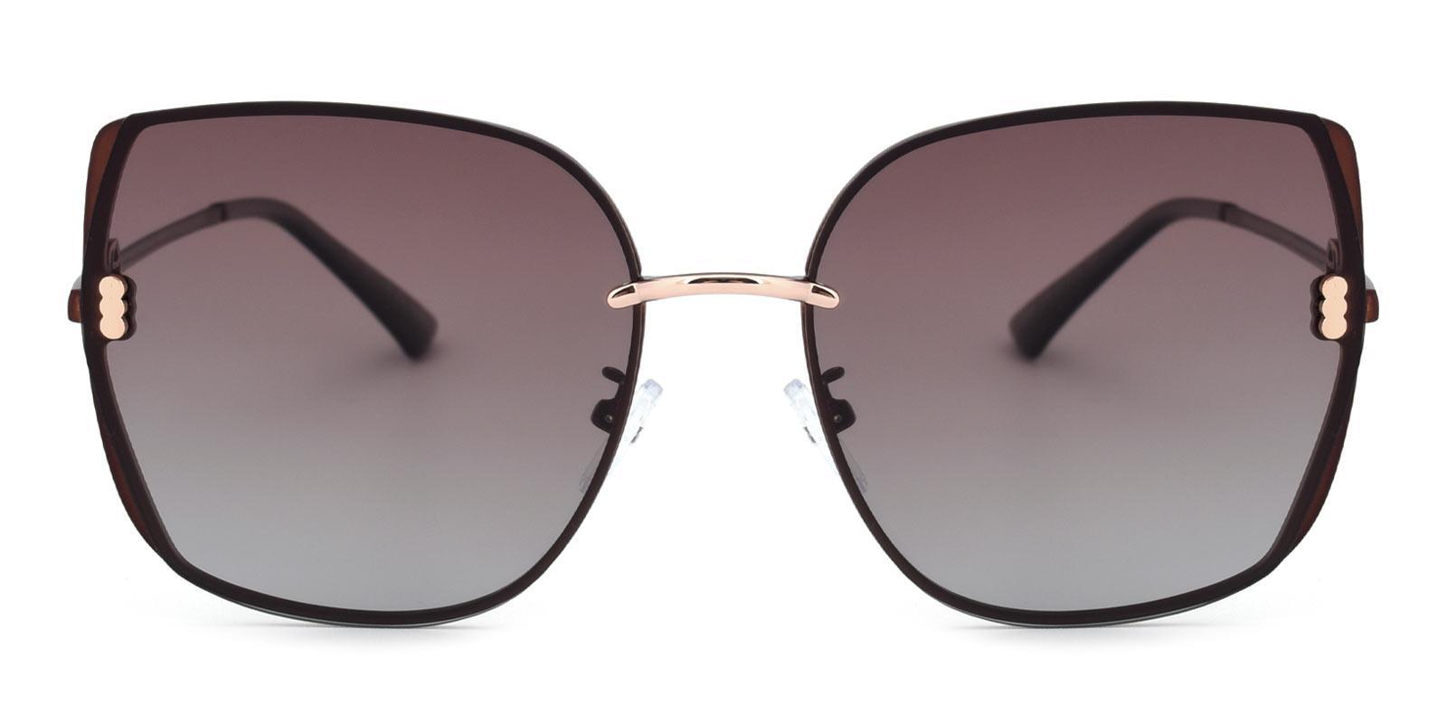Zed-Brown-Square-Metal-Sunglasses-detail