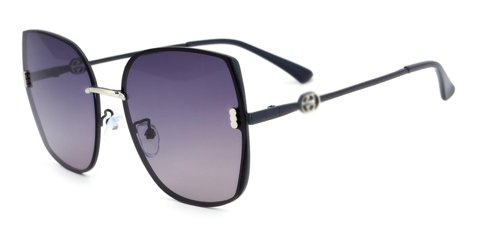 Zed-Gray-Square-Metal-Sunglasses-detail