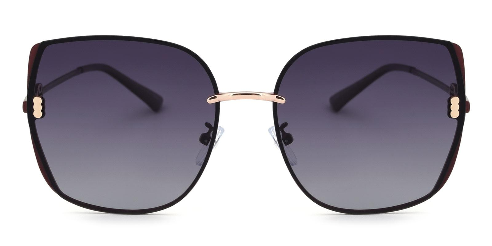 Zed-Red-Square-Metal-Sunglasses-detail