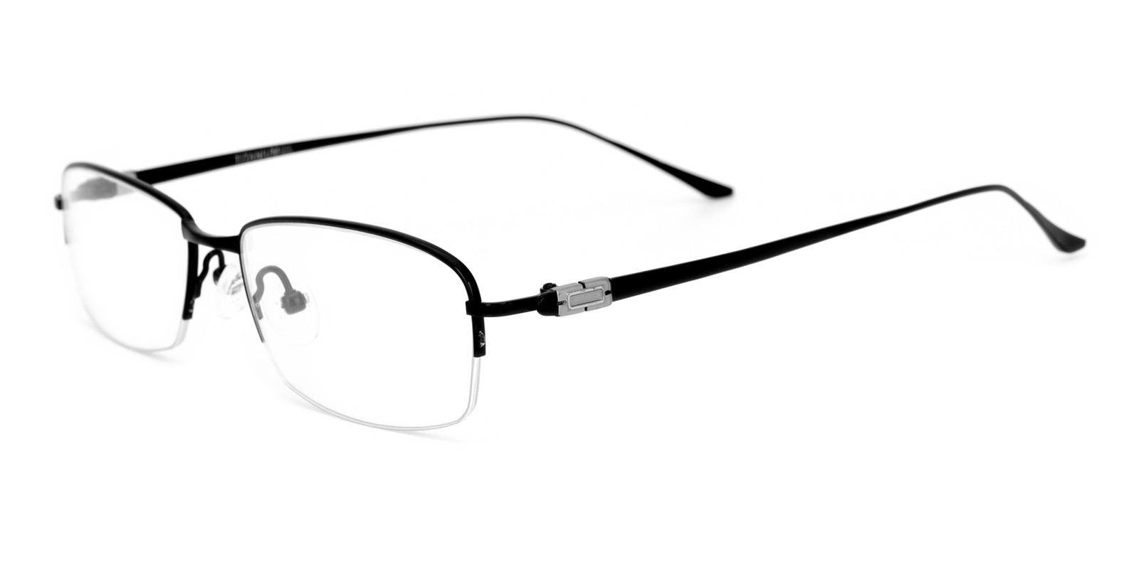 Kol-Black-Rectangle-Titanium-Eyeglasses-detail