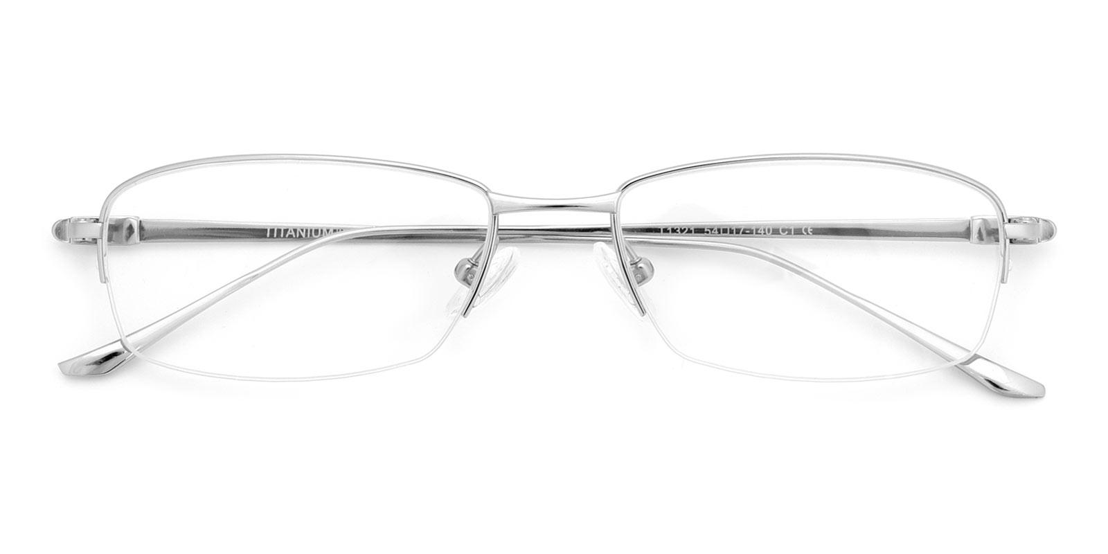Kol-Silver-Rectangle-Titanium-Eyeglasses-detail