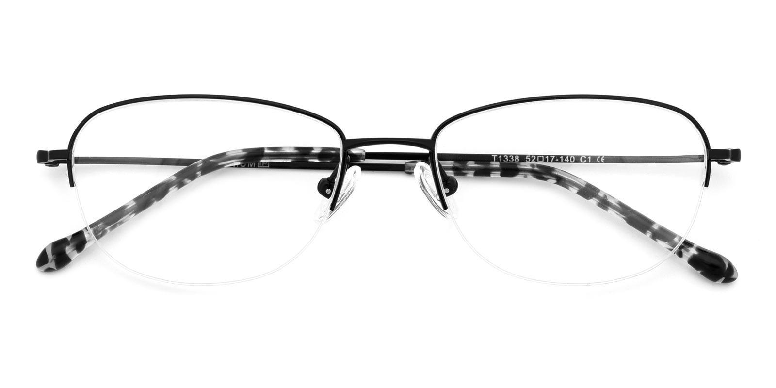 Melody-Black-Oval-Titanium-Eyeglasses-detail