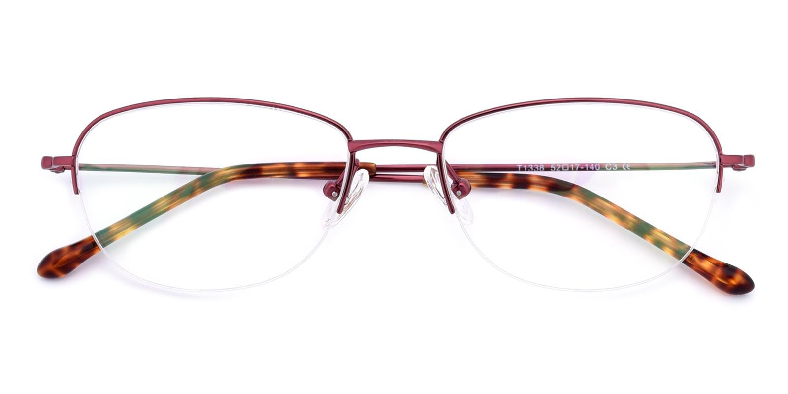 Melody-Red-Oval-Titanium-Eyeglasses-detail