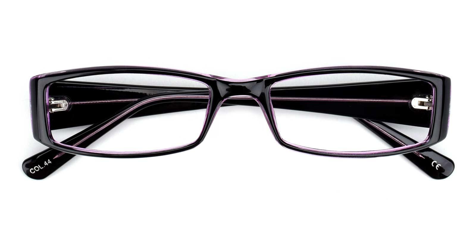 Drums-Purple-Rectangle-Plastic-Eyeglasses-detail