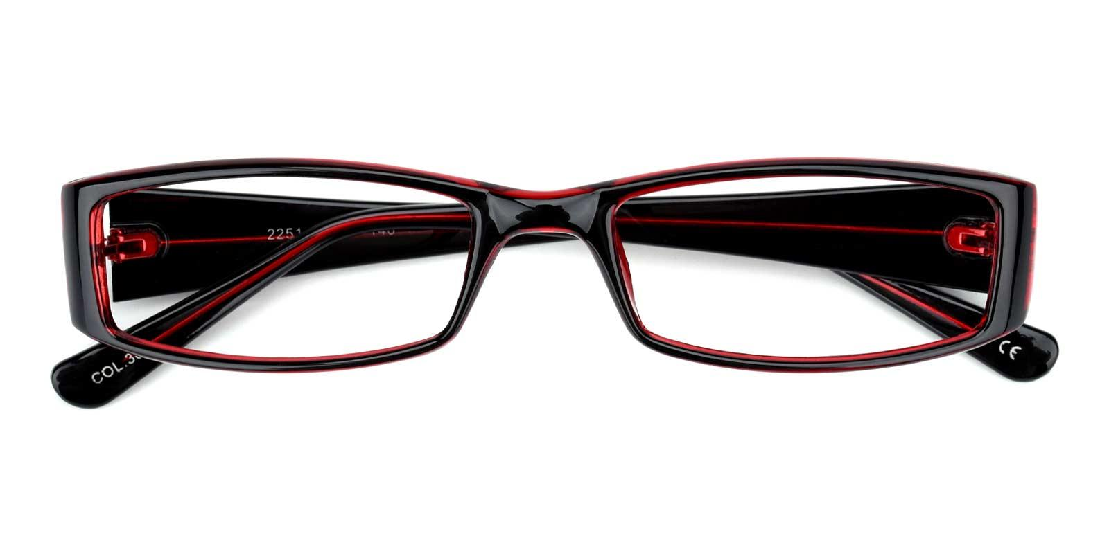 Tot-Red-Rectangle-Plastic-Eyeglasses-detail
