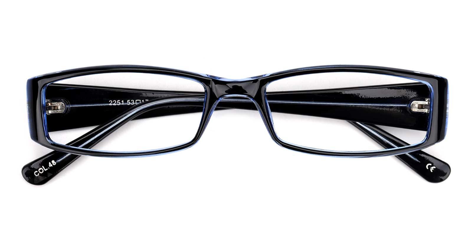 Anan-Blue-Rectangle-Plastic-Eyeglasses-detail