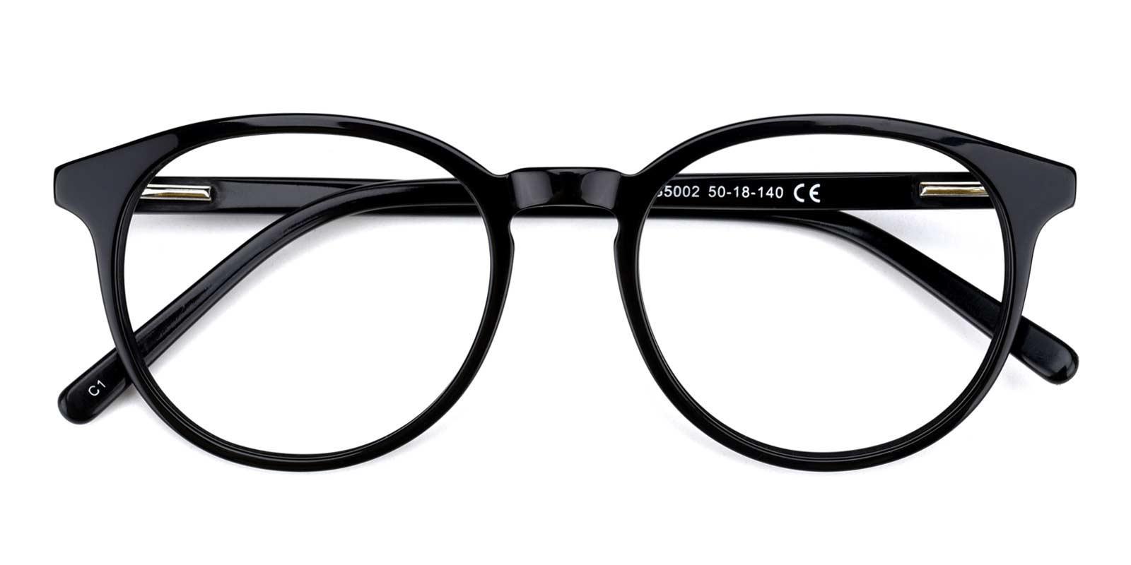 Comfort-Black-Round-TR-Eyeglasses-detail