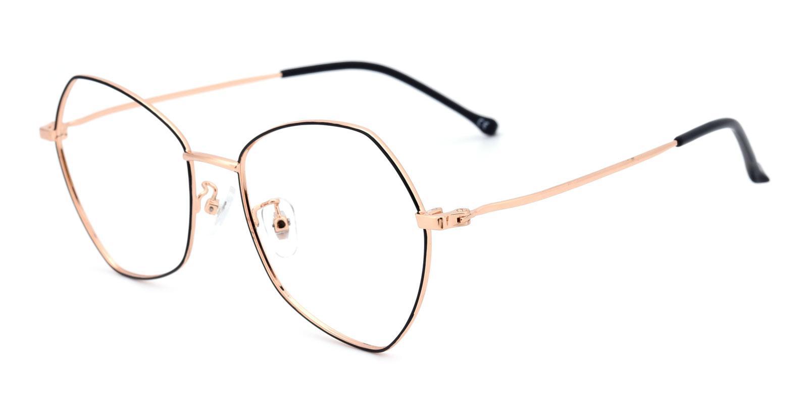 Control-Black-Geometric-Metal-Eyeglasses-detail