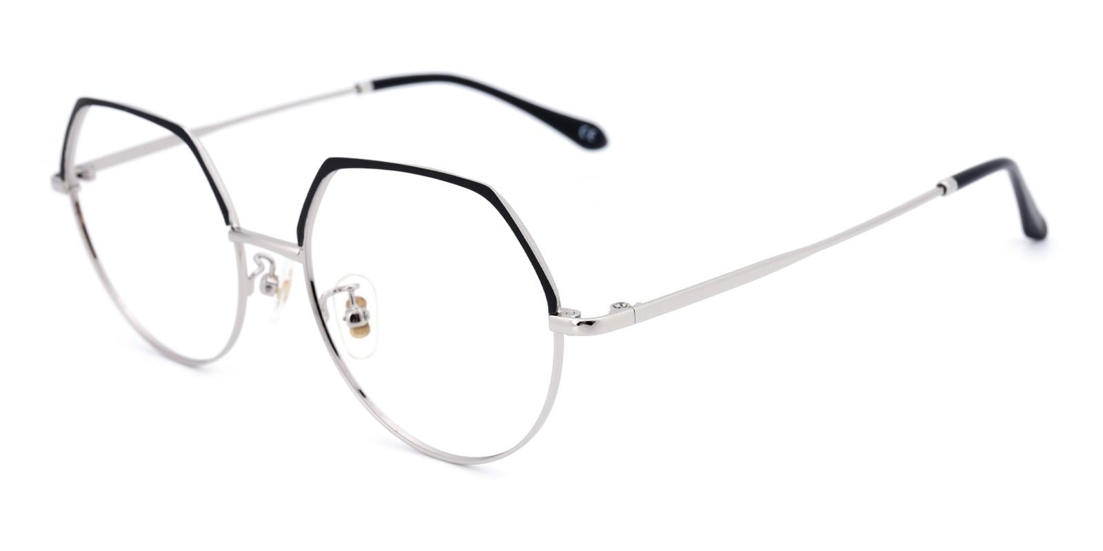 Advice-Black-Round-Metal-Eyeglasses-detail