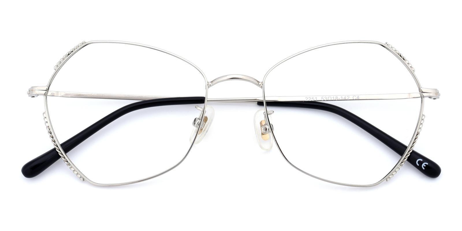 Spring-Silver-Geometric-Metal-Eyeglasses-detail