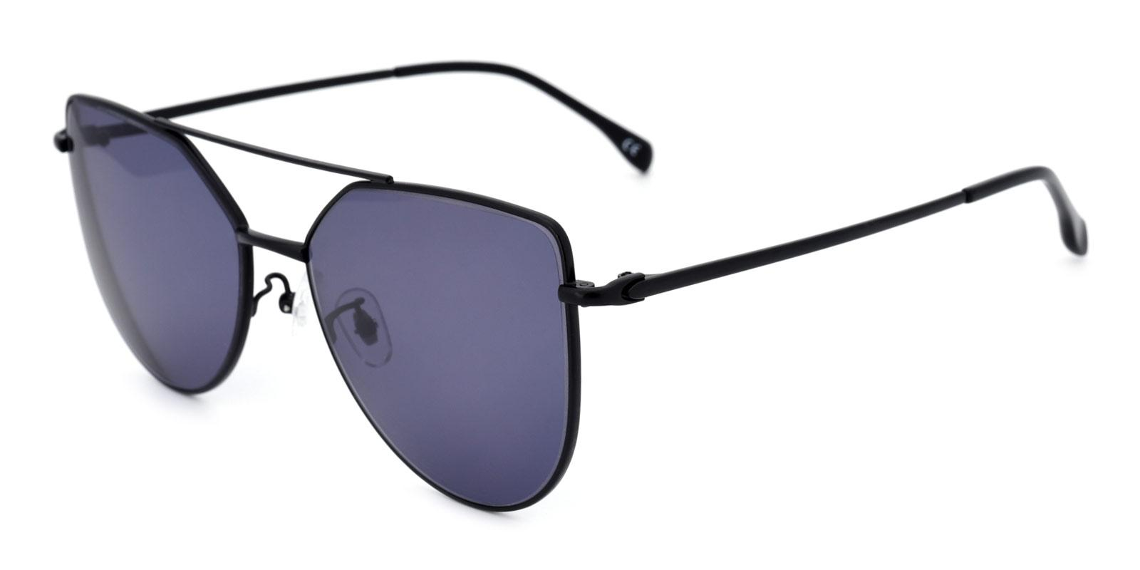 Nylon-Black-Aviator-Metal-Sunglasses-detail