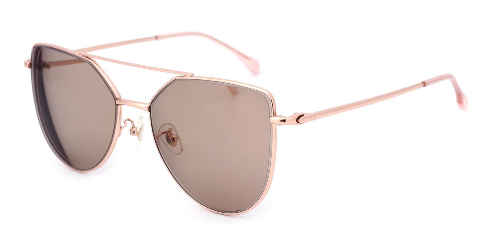 Nylon-Pink-Aviator-Metal-Sunglasses-detail