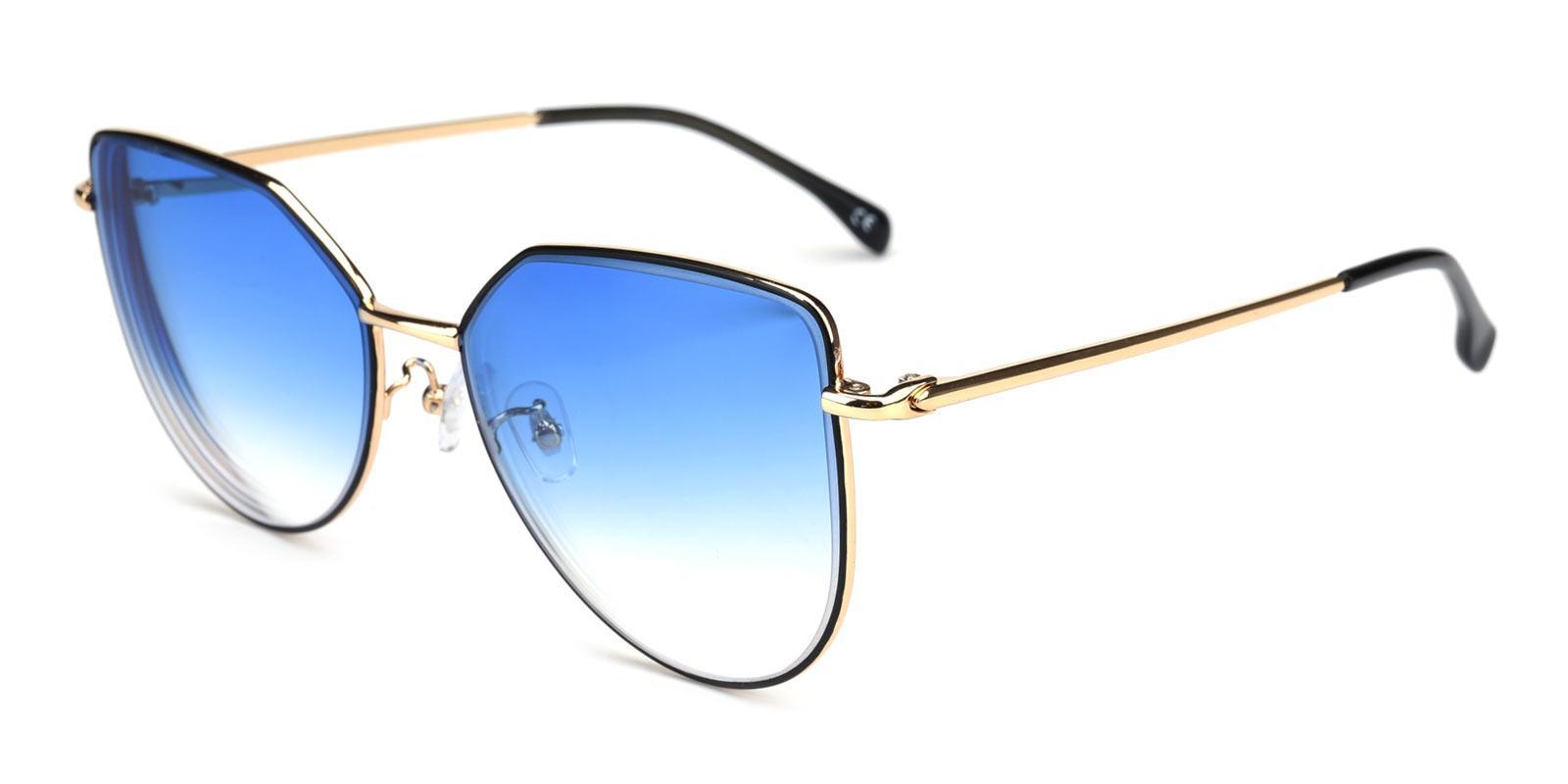 Reflection-Black-Cat-Metal-Sunglasses-detail