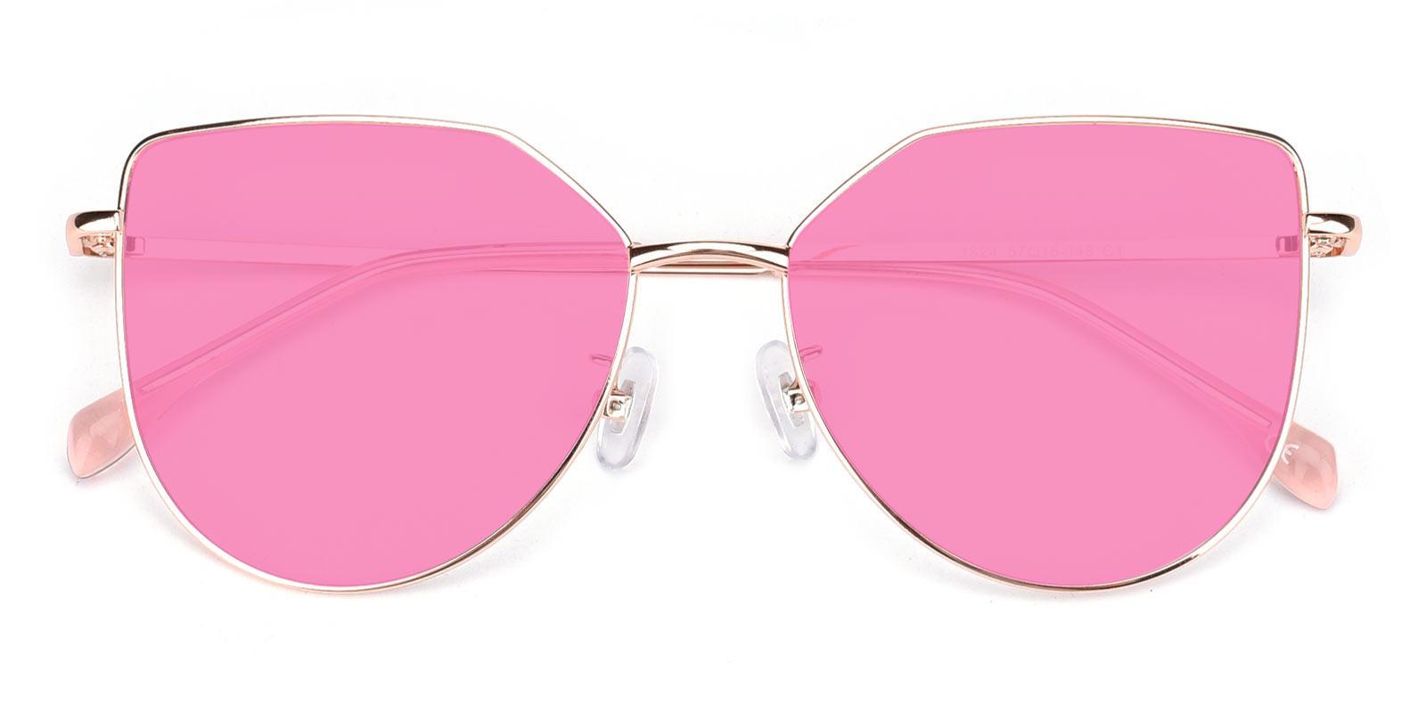 Reflection-Pink-Cat-Metal-Sunglasses-detail