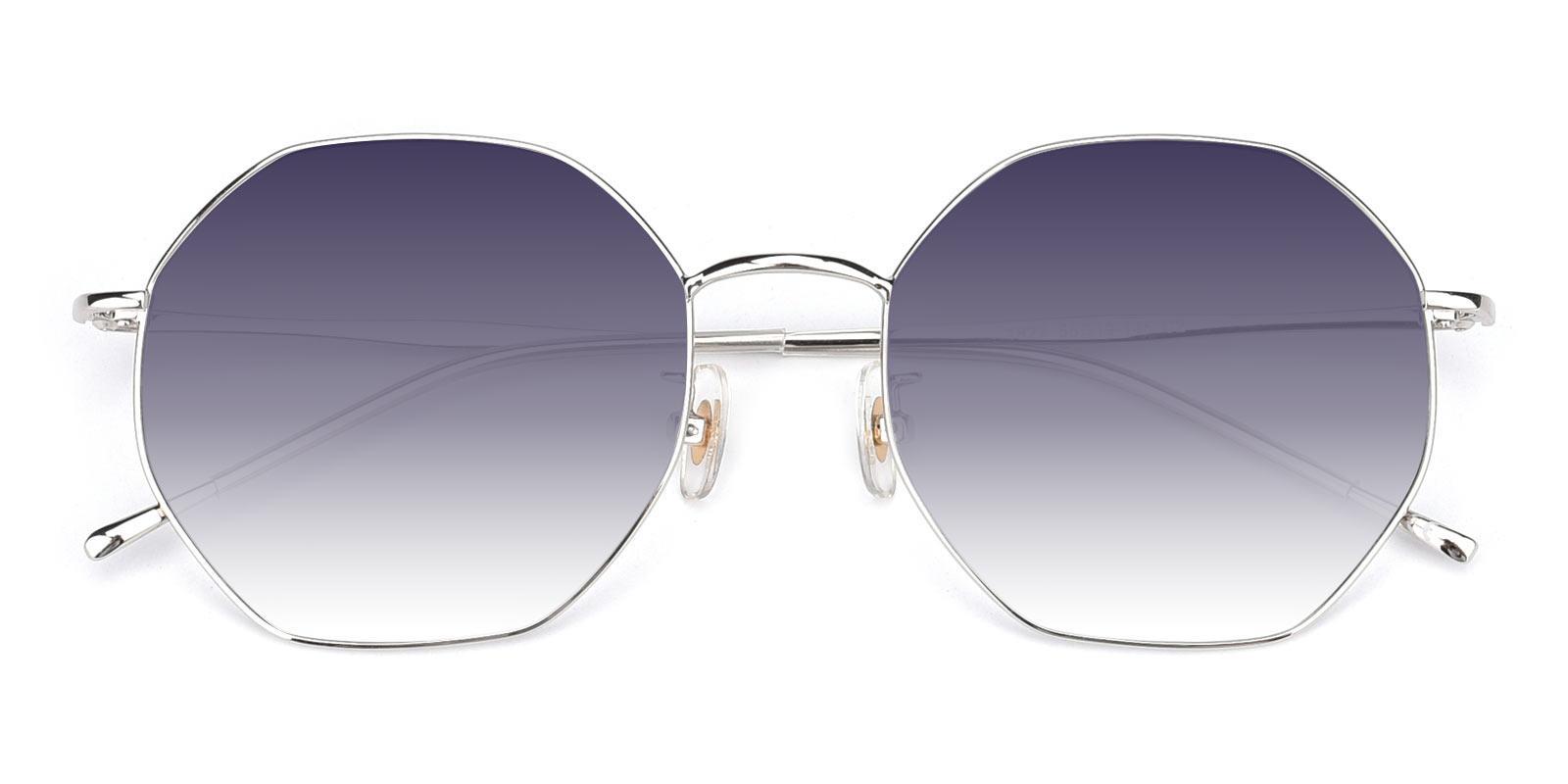 Pleasure-Silver-Geometric-Metal-Sunglasses-detail