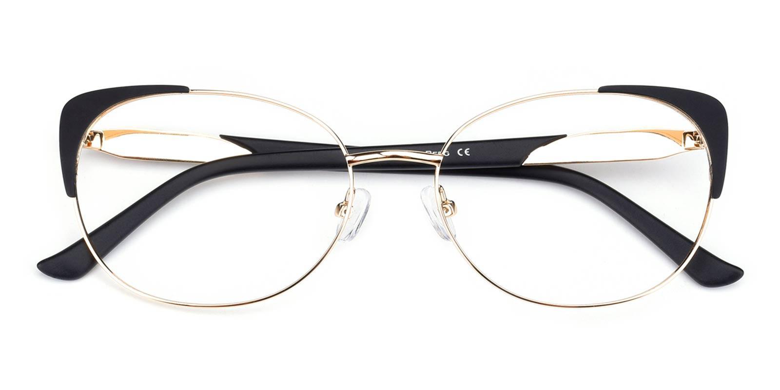 Dolores-Black-Cat-Metal-Eyeglasses-detail