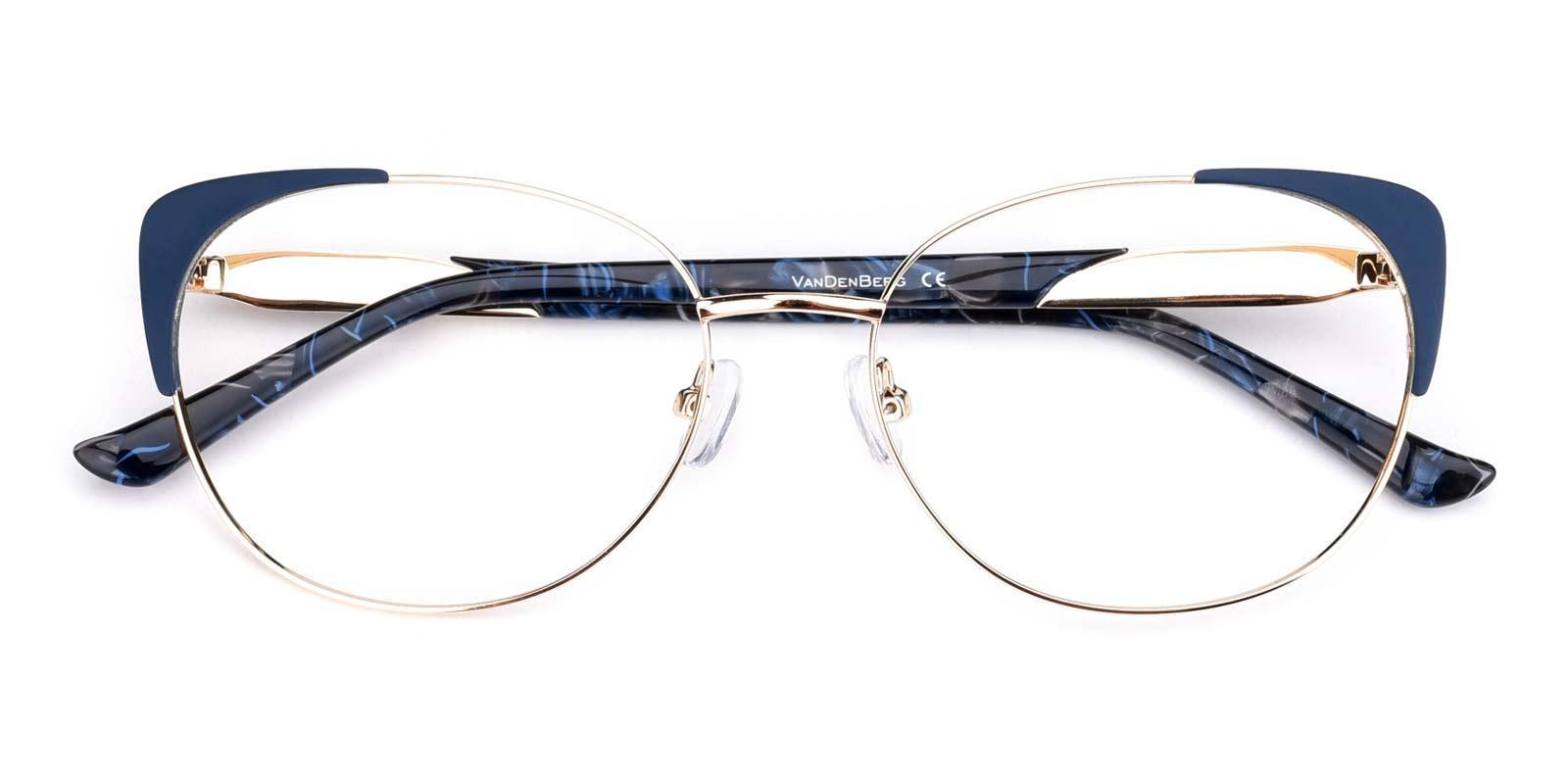 Dolores-Blue-Cat-Metal-Eyeglasses-detail