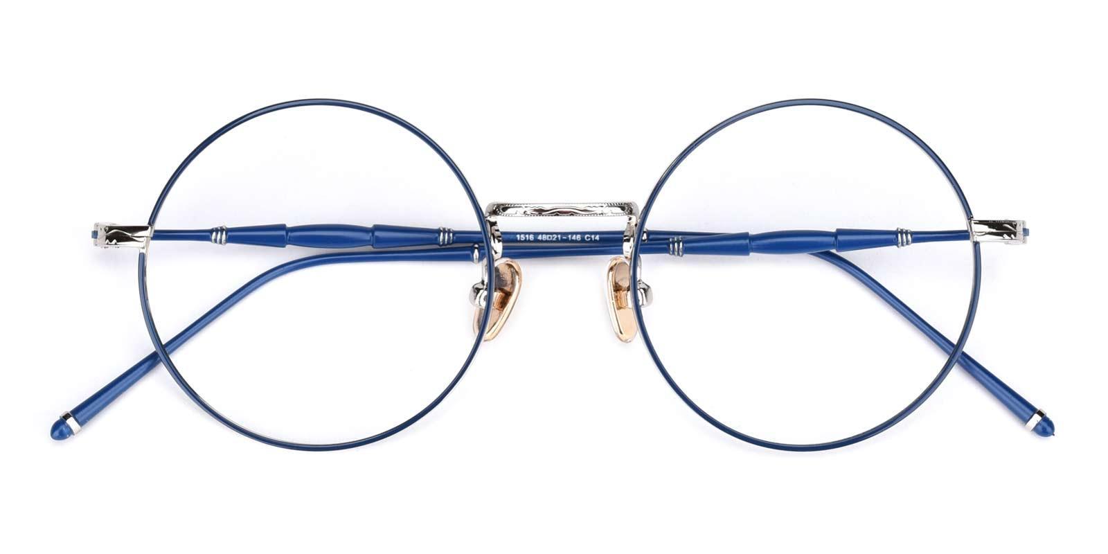 Toto-Blue-Round-Metal-Eyeglasses-detail