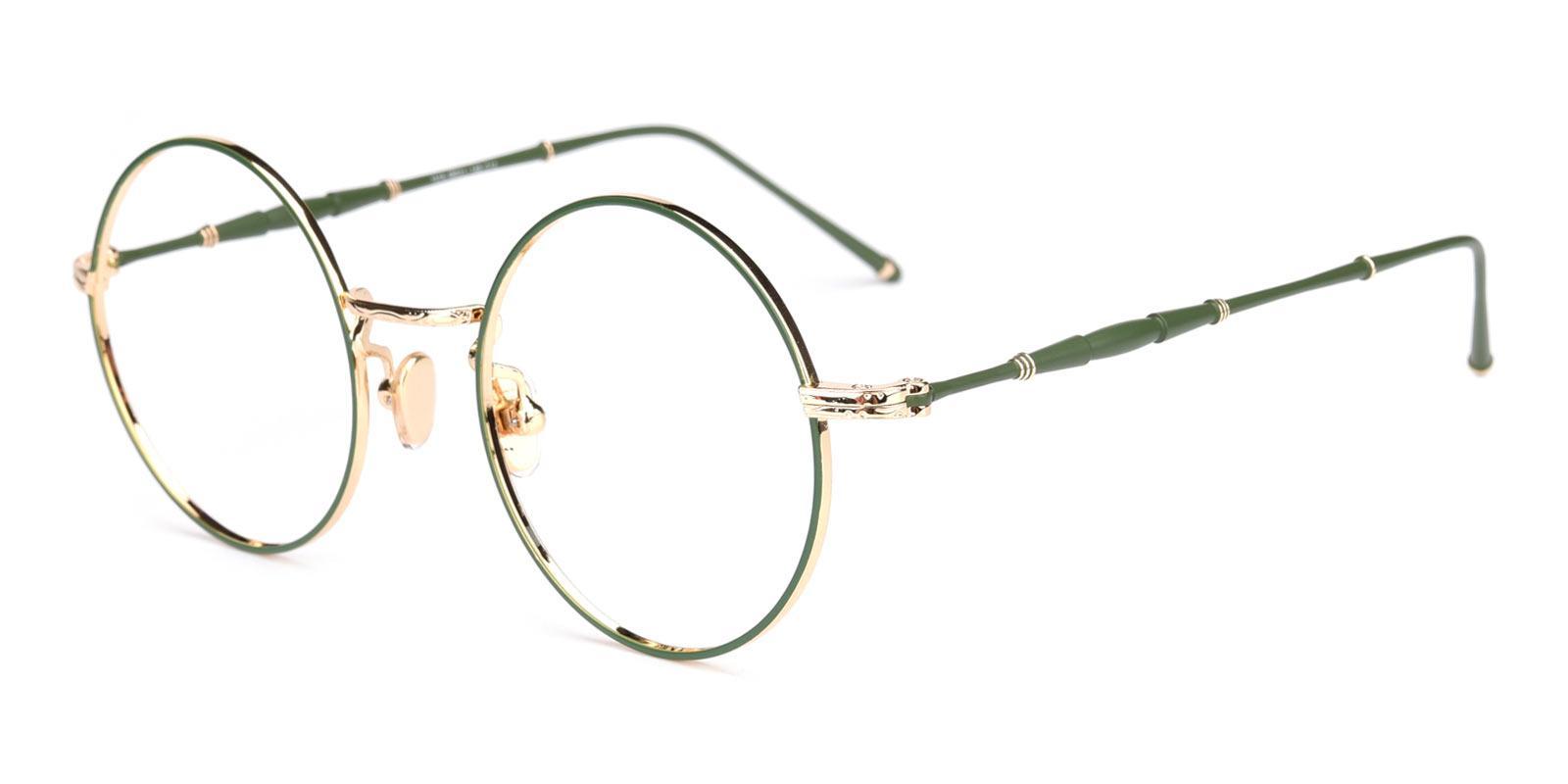 Toto-Green-Round-Metal-Eyeglasses-detail
