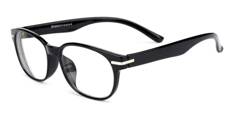 Una-Black-Eyeglasses