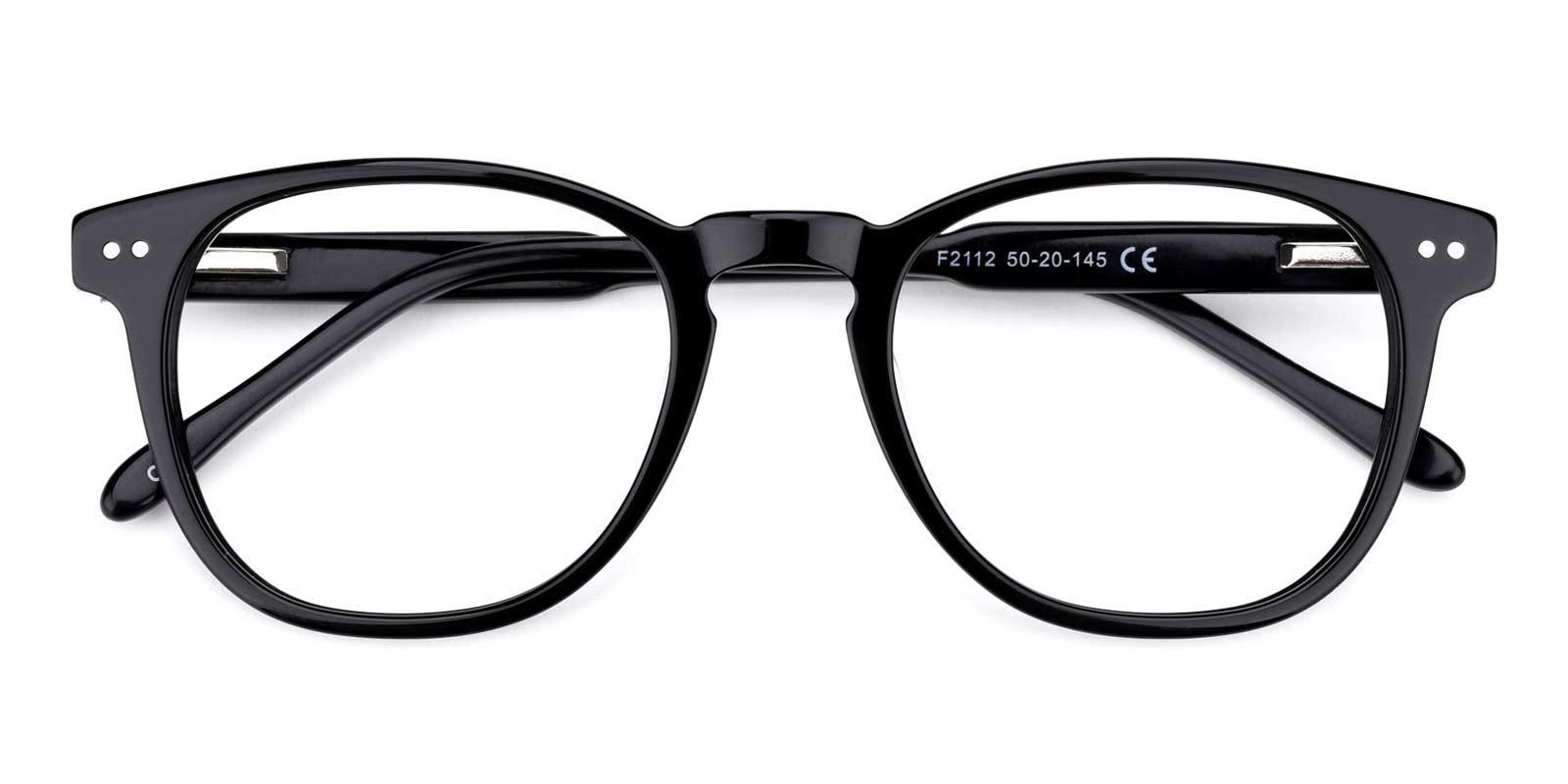 Knowledge-Black-Rectangle-TR-Eyeglasses-detail