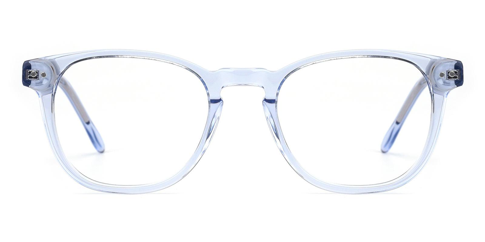 Knowledge-Blue-Rectangle-TR-Eyeglasses-detail