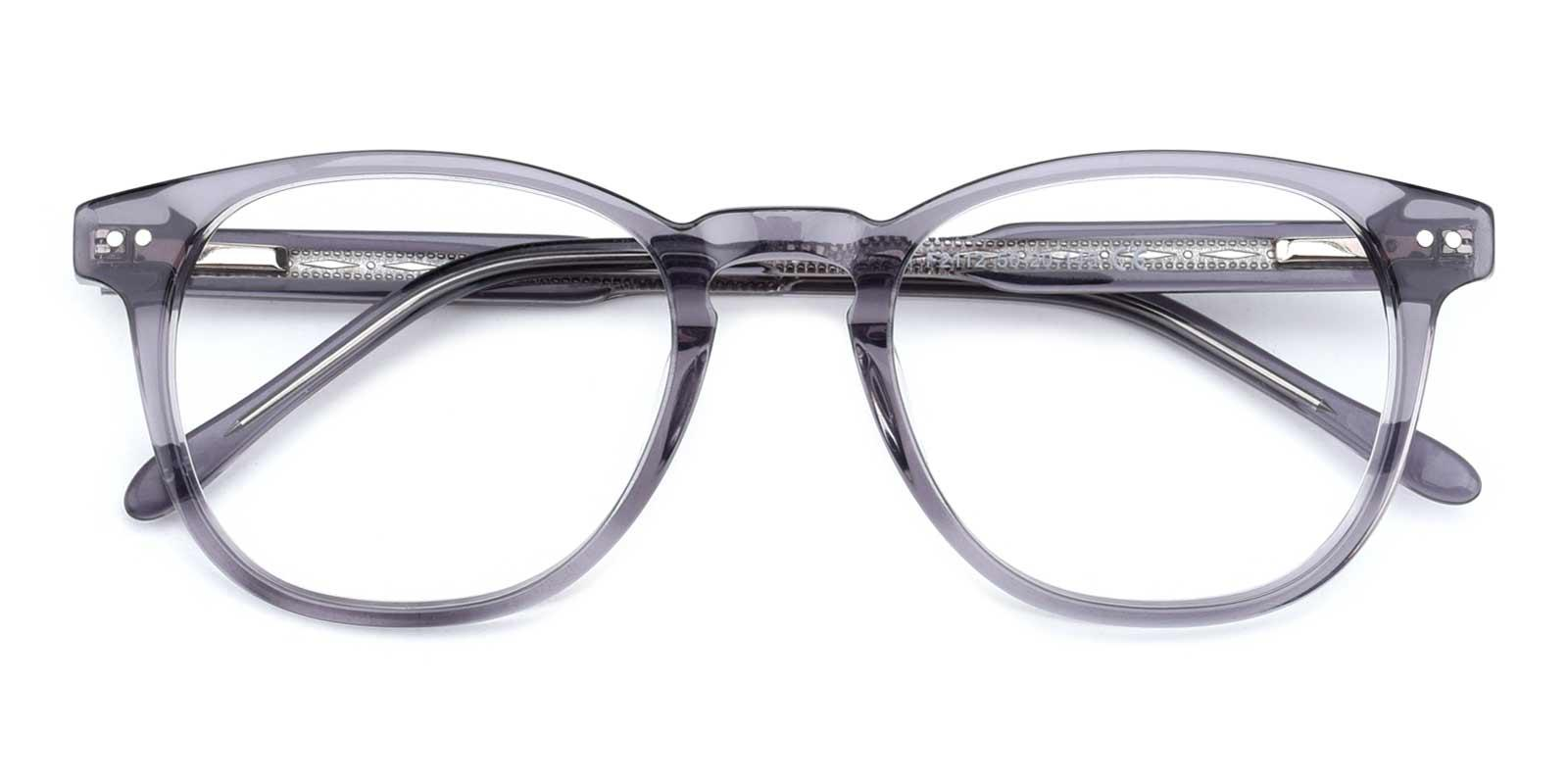 Knowledge-Gray-Rectangle-TR-Eyeglasses-detail