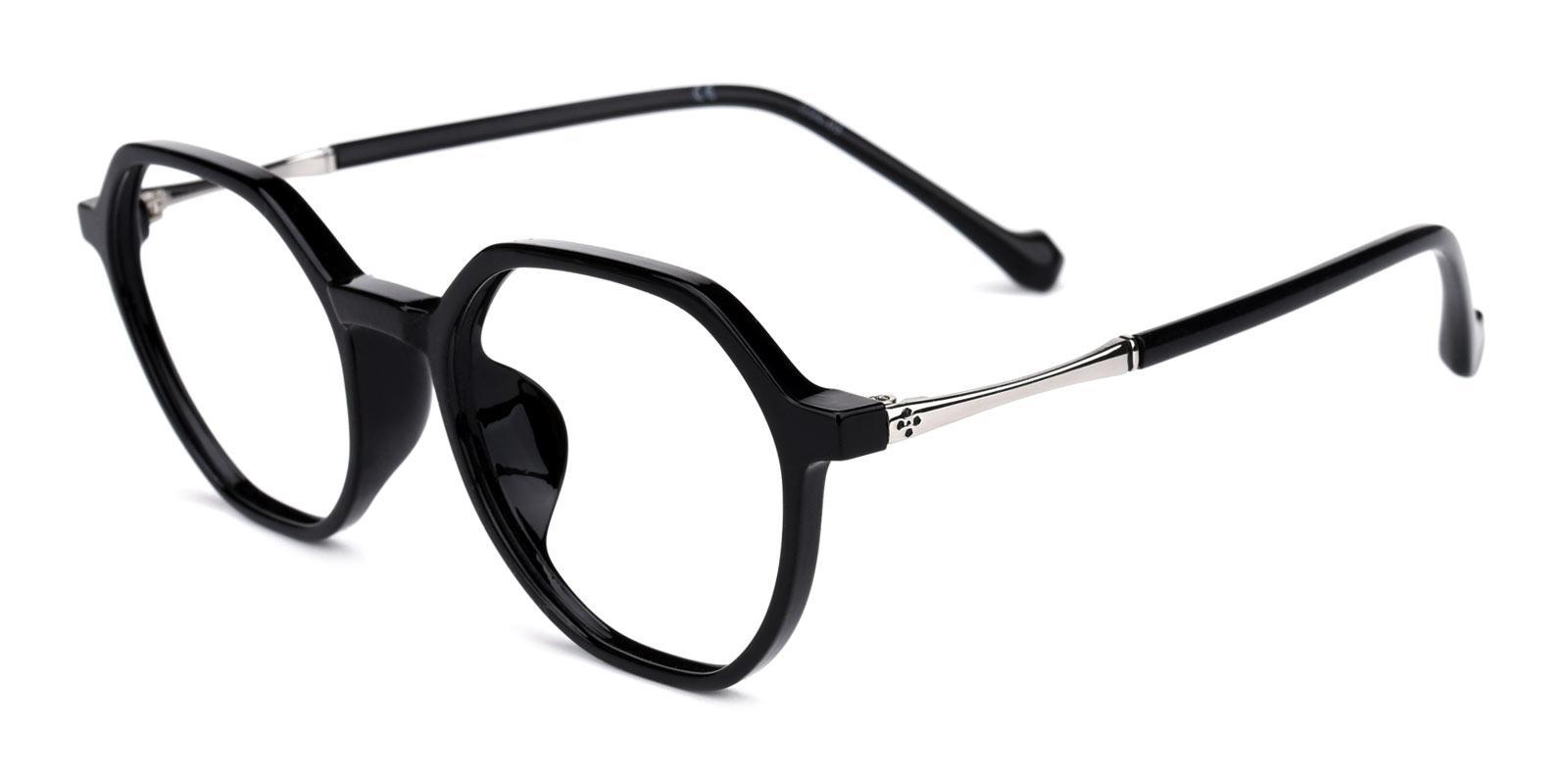 Beta-Black-Geometric-TR-Eyeglasses-detail