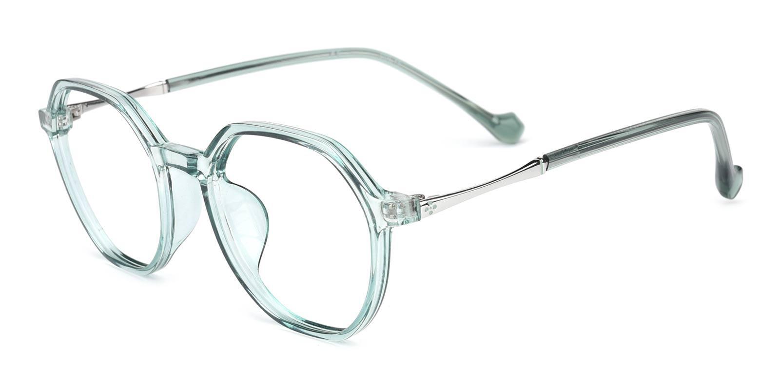 Beta-Green-Geometric-TR-Eyeglasses-detail