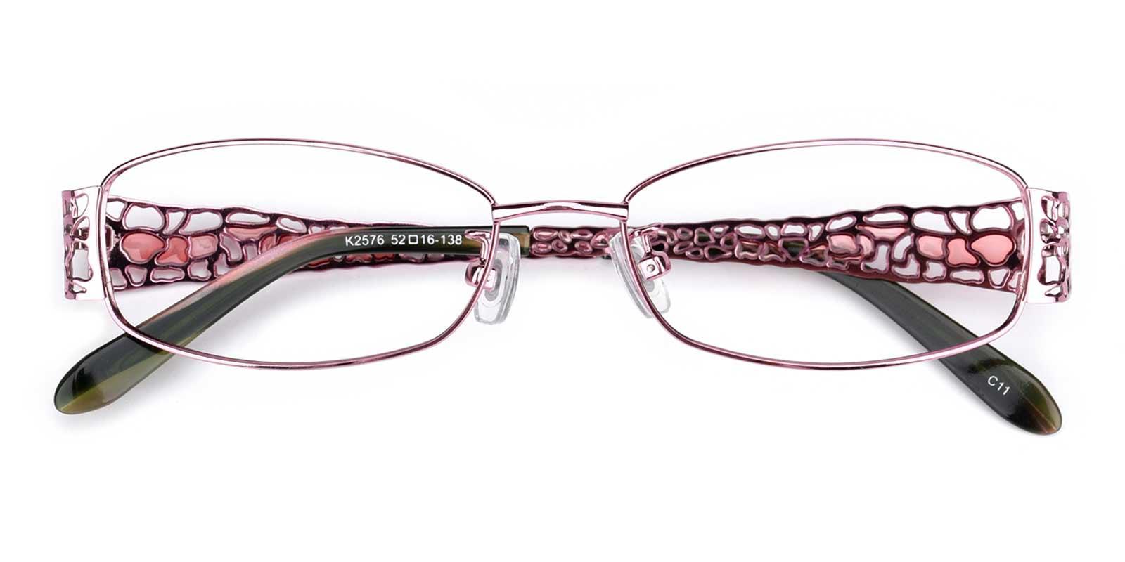 Spider-Pink-Rectangle-Metal-Eyeglasses-detail