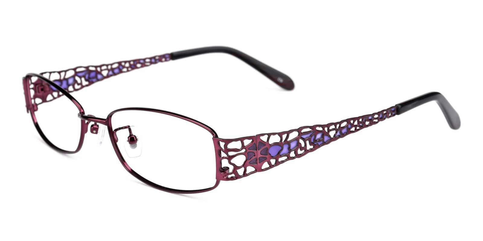 Spider-Purple-Rectangle-Metal-Eyeglasses-detail