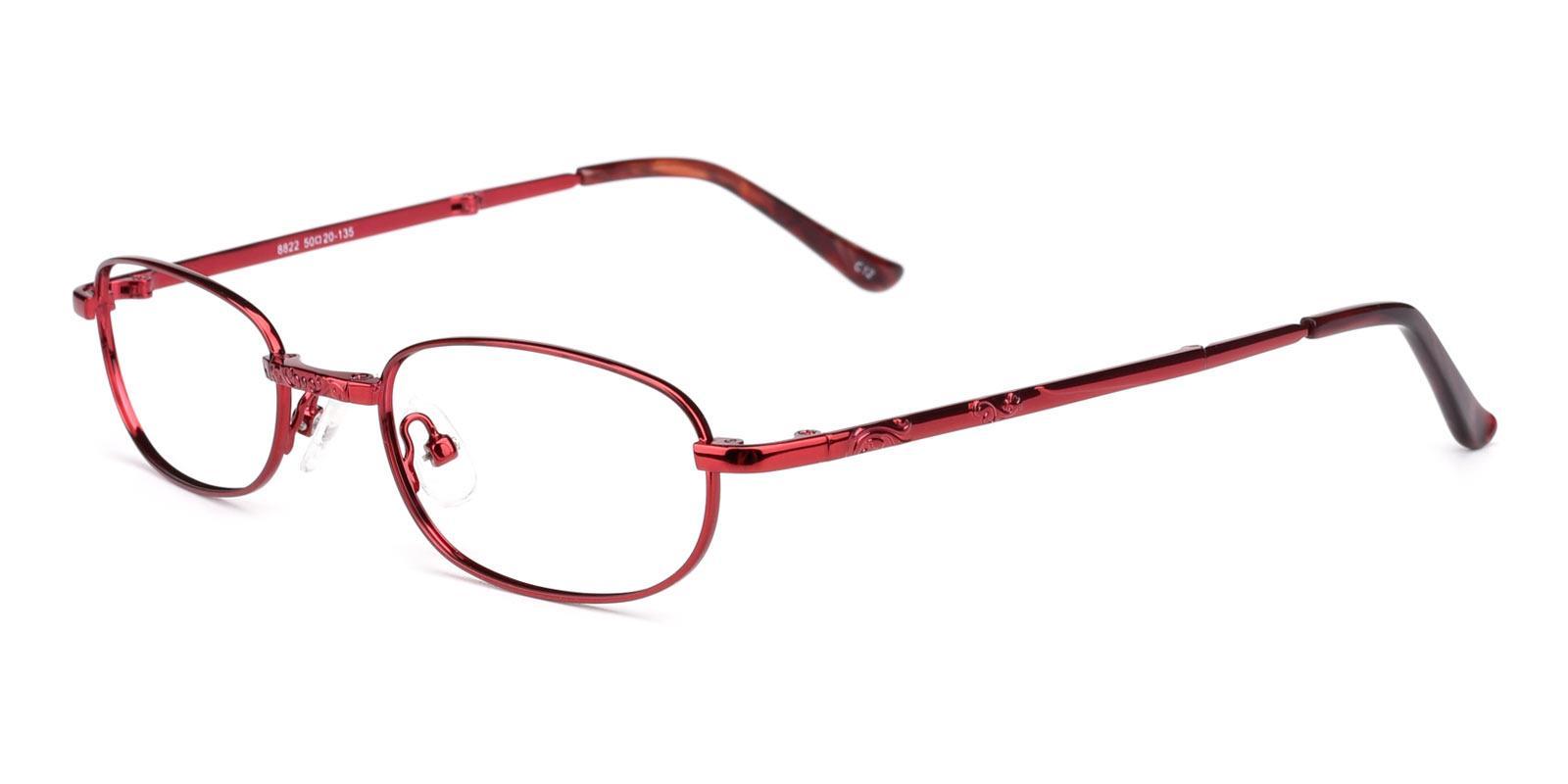 June-Red-Oval-Metal-Eyeglasses-detail