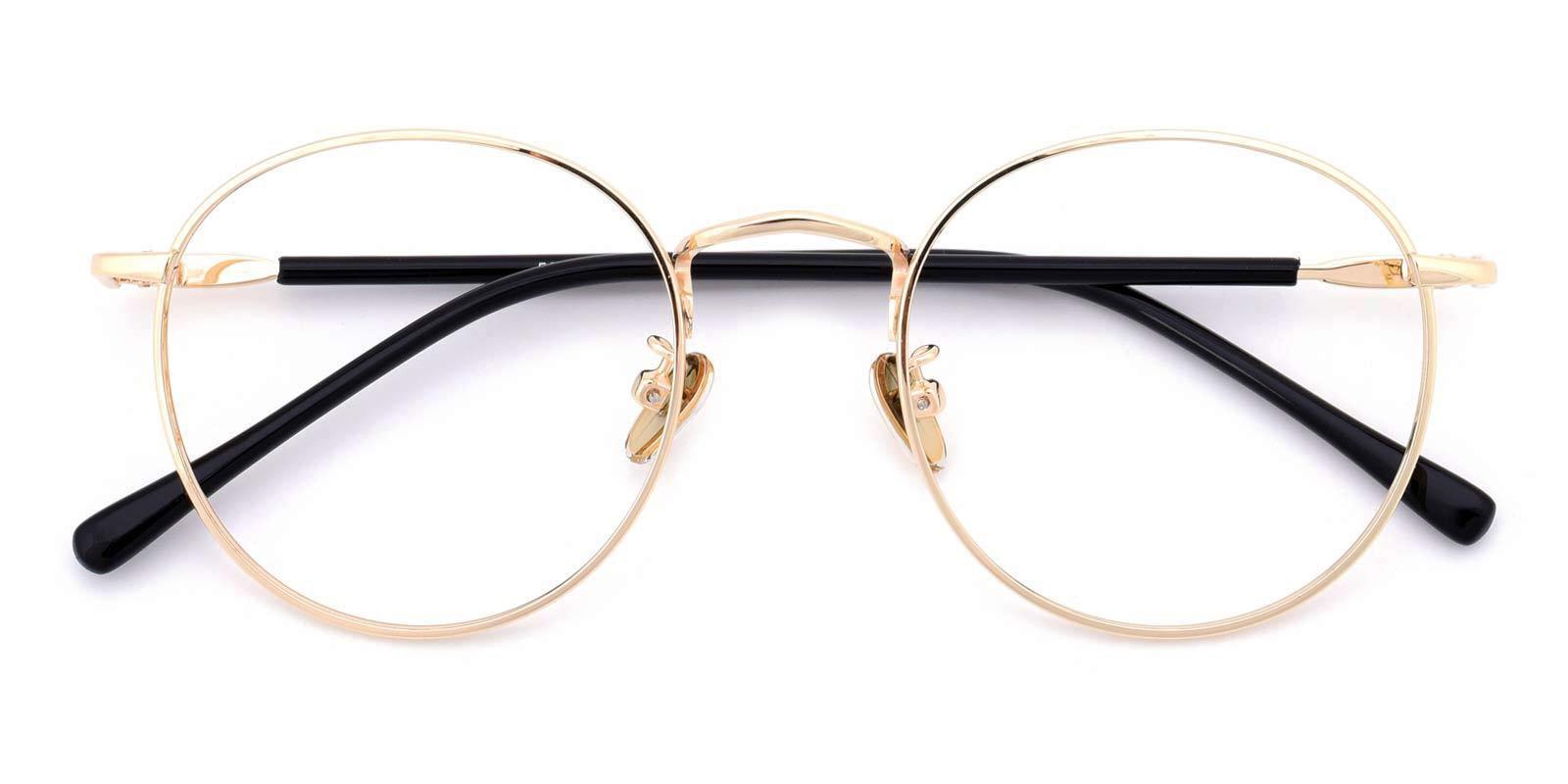 Donuts-Gold-Round-Metal-Eyeglasses-detail