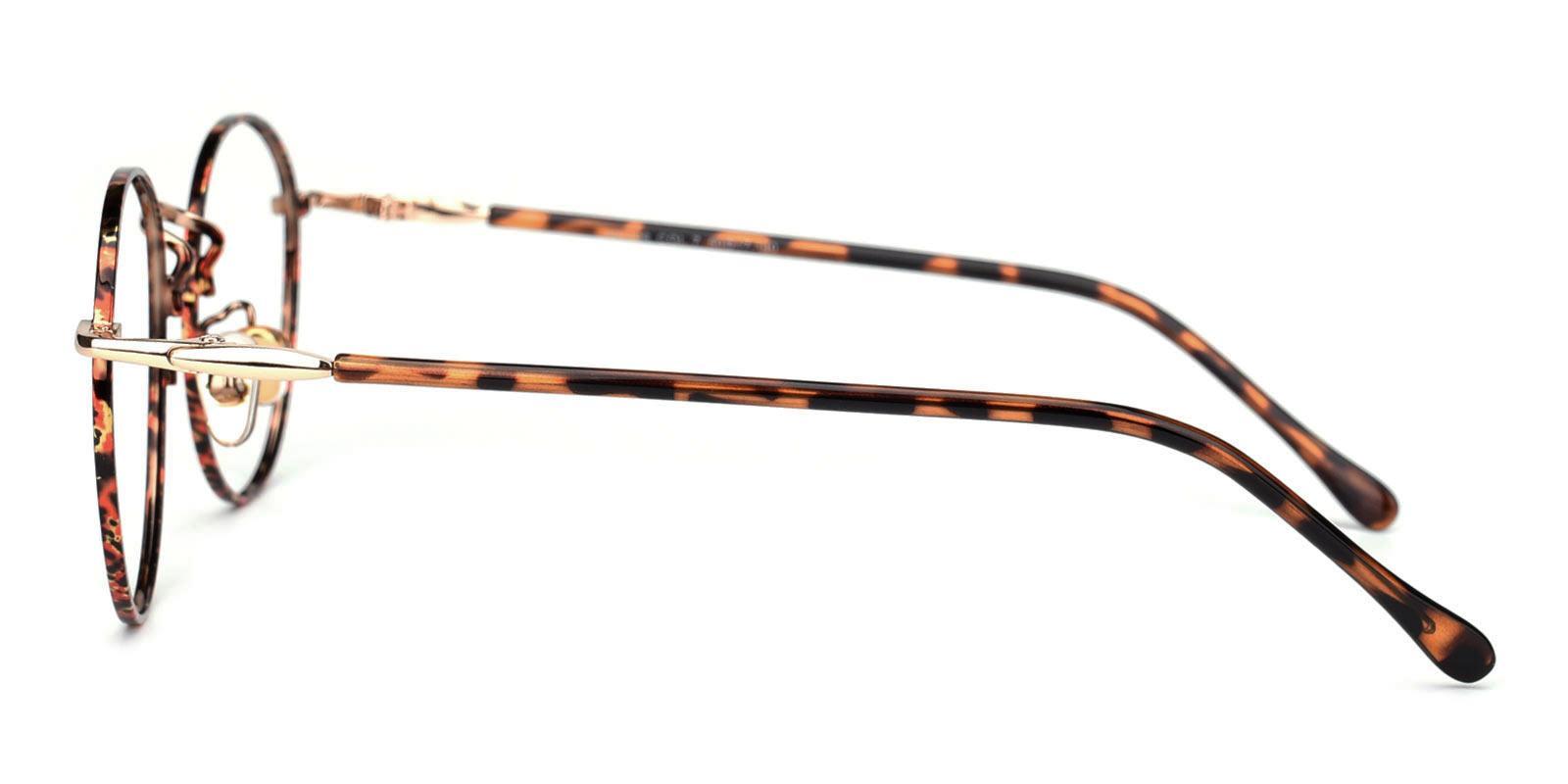 Donuts-Tortoise-Round-Metal-Eyeglasses-detail