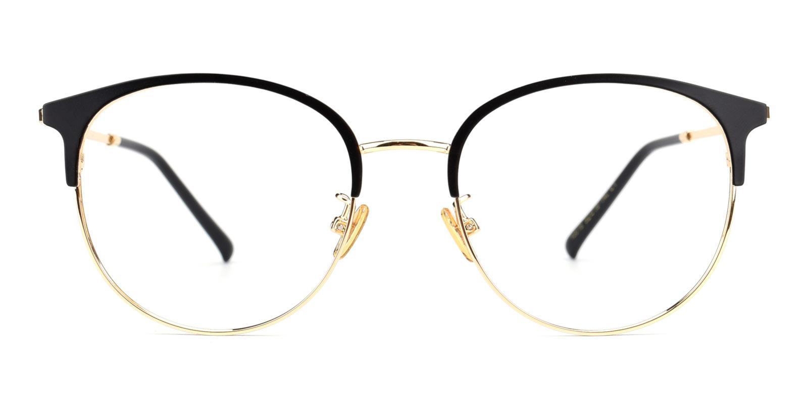 Knight-Black-Browline-Metal-Eyeglasses-detail