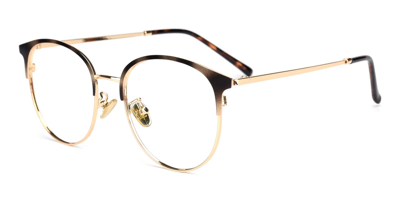 Knight-Tortoise-Browline-Metal-Eyeglasses-detail