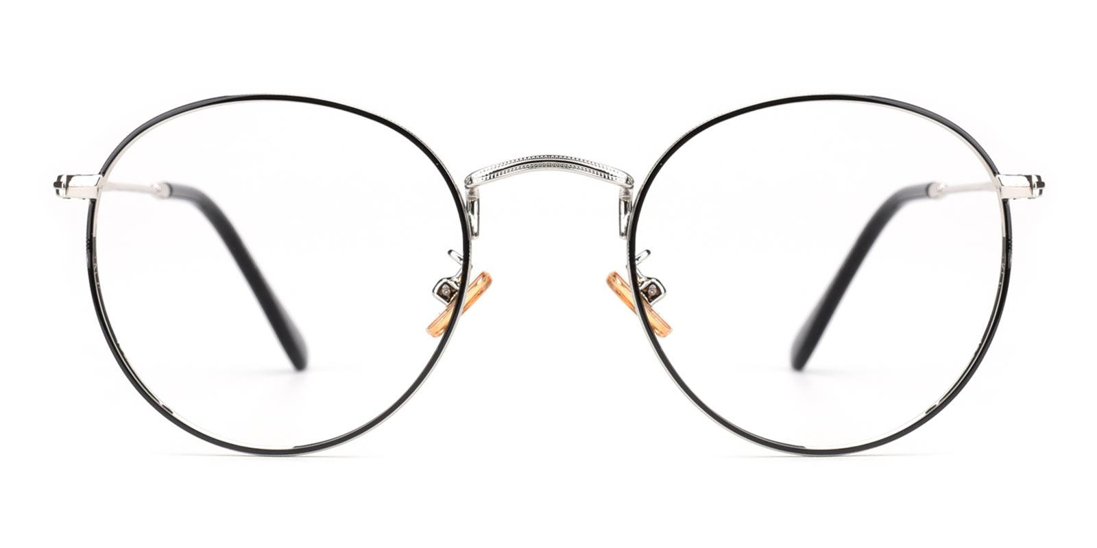 Canary-Black-Round-Metal-Eyeglasses-detail