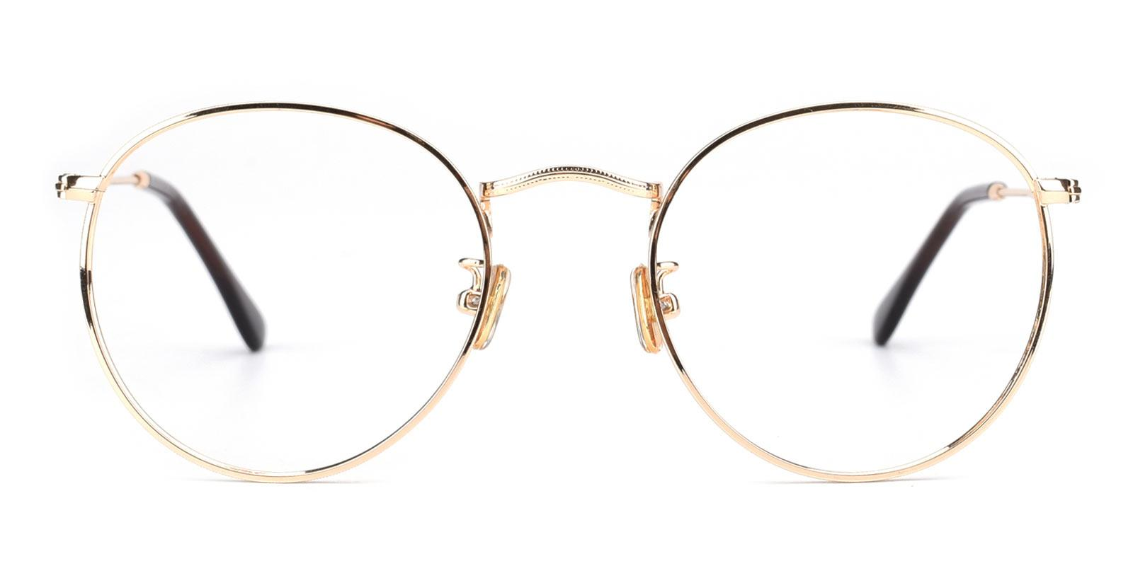 Canary-Gold-Round-Metal-Eyeglasses-detail